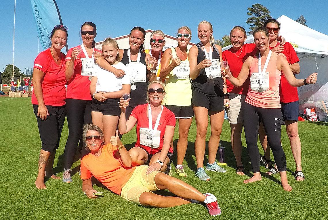 Team Mandagsklubben stilte med mange deltakere i Strømstadmilen. (Foto: Bjørn Johannessen)