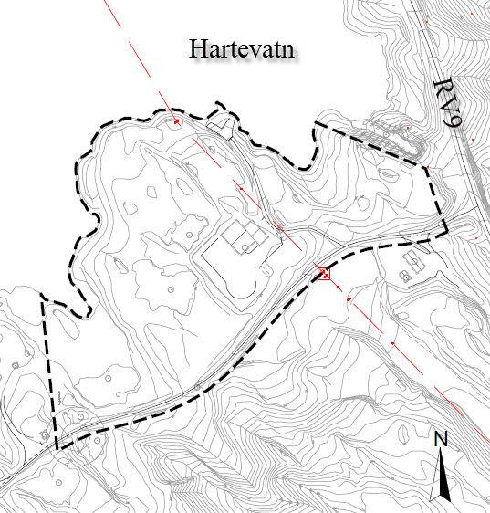 Varslingskart Helikopterbase Hartevatn