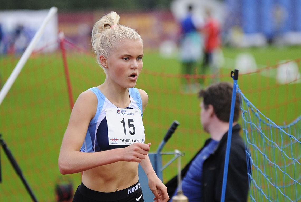 Christine Næss har ikke konkurrert mye i år, men nå var hun først i mål på 1500 meteren i et sommerstevne på Bislett. (Arkivfoto: Arne Dag Myking)