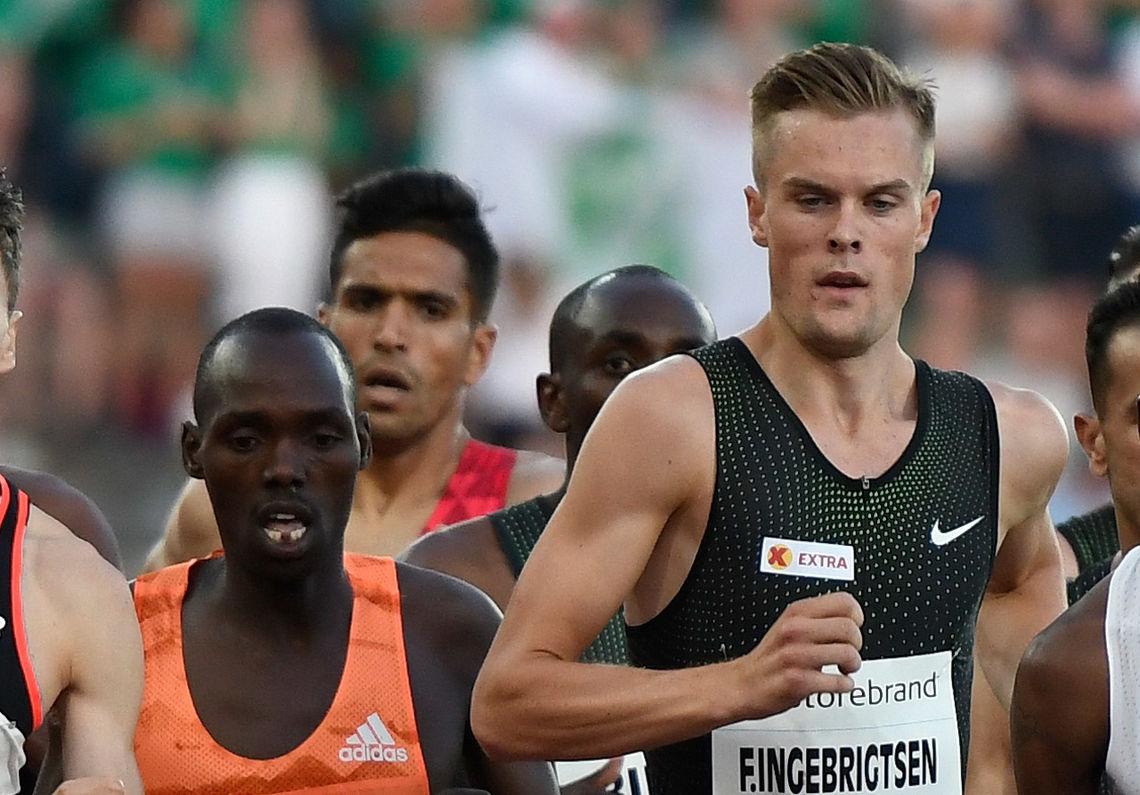 Filip Ingebrigtsen tok kommando og satte norsk rekord på 1 mile innendørs. (Arkivfoto: Bjørn Johannessen)