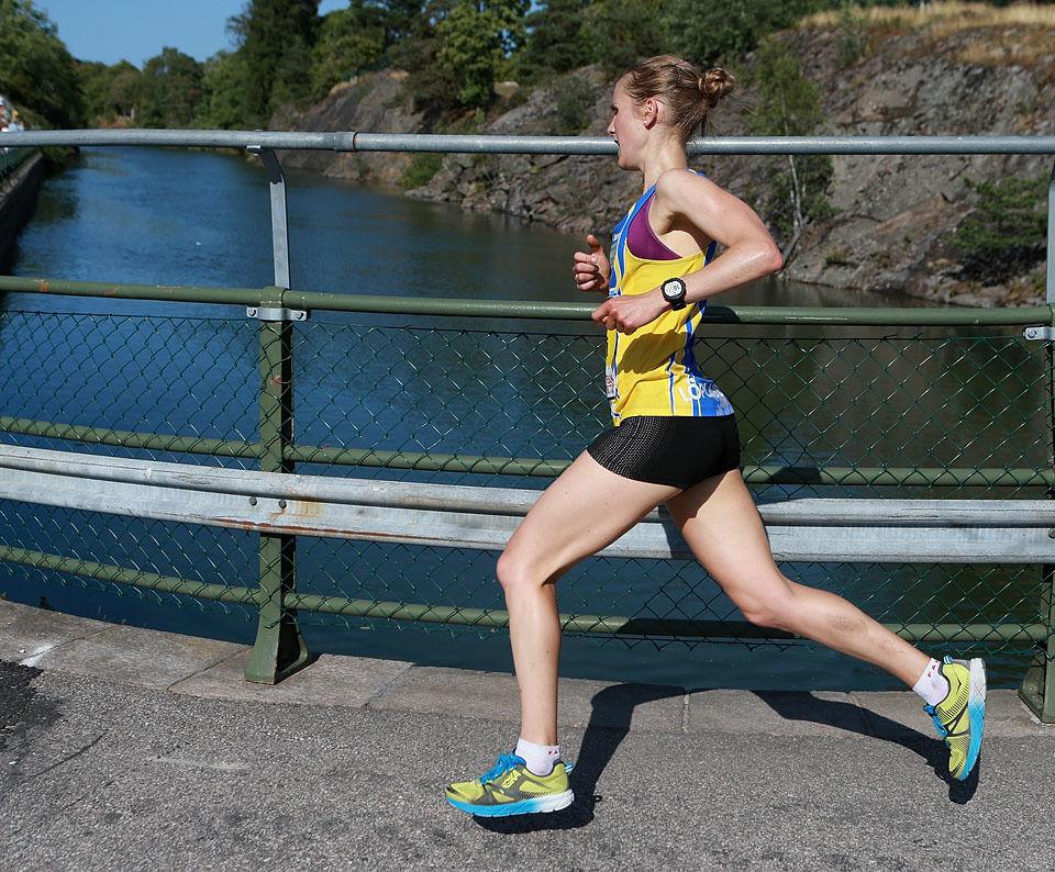 Heidi Pharo i siste sving før oppløpet i 2018. (Foto: Kjell Vigestad)