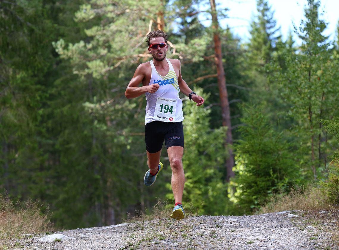Ola Korbøl løp inn til 2. plass i fjorårets halvmaraton i skogen ved Kongsvinger. (Foto: Bjørn Hytjanstorp)