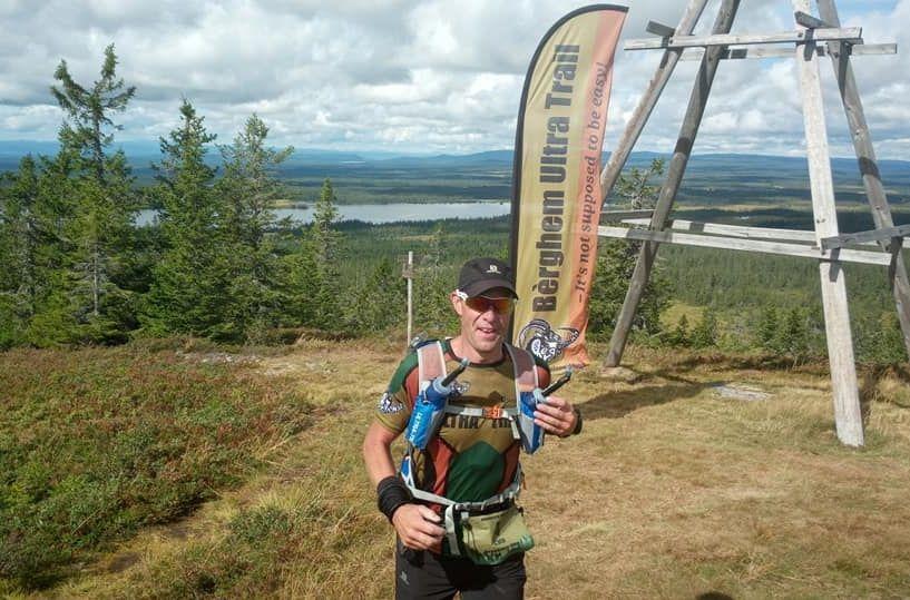 Cato Pettersen på Brumundkampen etter 33 km, 67 km igjen til mål. (Arrangørfoto)