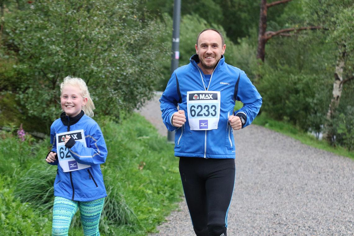 Mia Bremerthun og Erik Hansen virker godt fornøyd med egen innsats