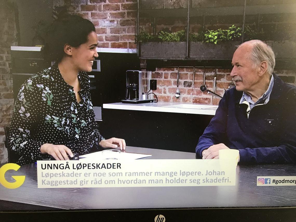 Løpeskader: Johan Kaggestad kom med gode råd om hvordan unngå løpeskader på God Morgen Norge i dag.