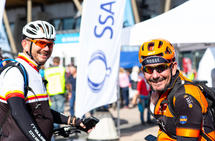 Fornøyd: Bjørn Eriksen (t.v) og Svein Omdahl er godt fornøyde med årets Birkebeinerritt. Foto: Heidi Omdahl