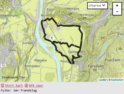 kart melhus kommune Folk i form løypa er 25 år   Melhus kommune