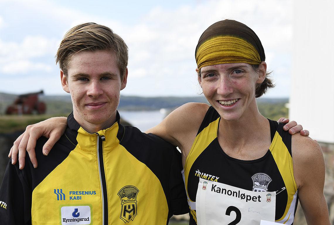 I likhet med i fjor var det Trym Tønnesen og Tessa Frenay som vant Kanonløpet i Halden. (Alle foto: Bjørn Johannessen)