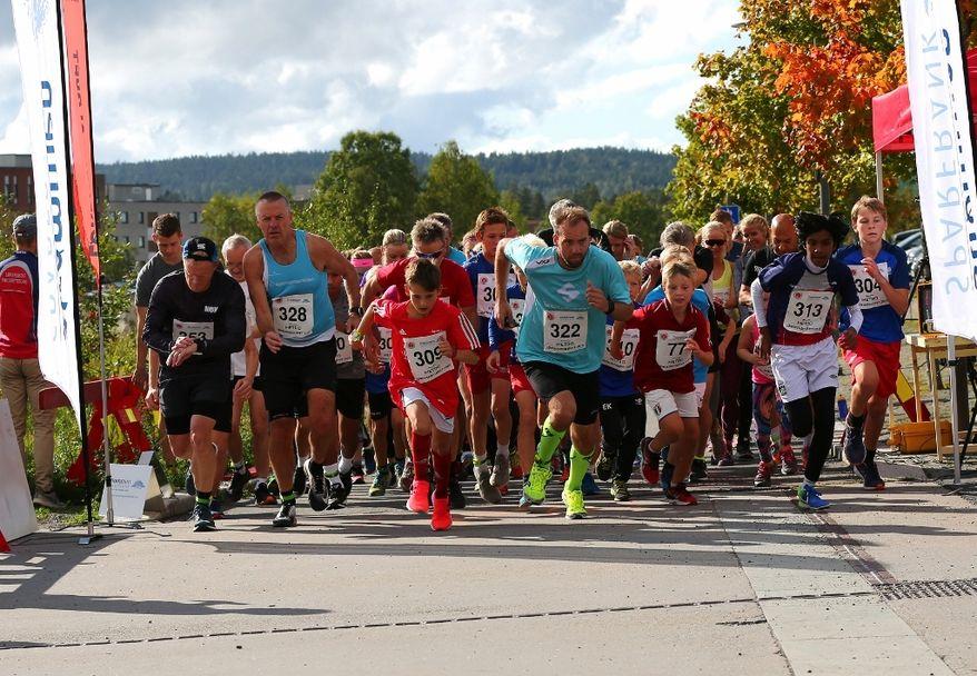 Lørenskogløpet 2018 - Starten på 5 km (1024x709)