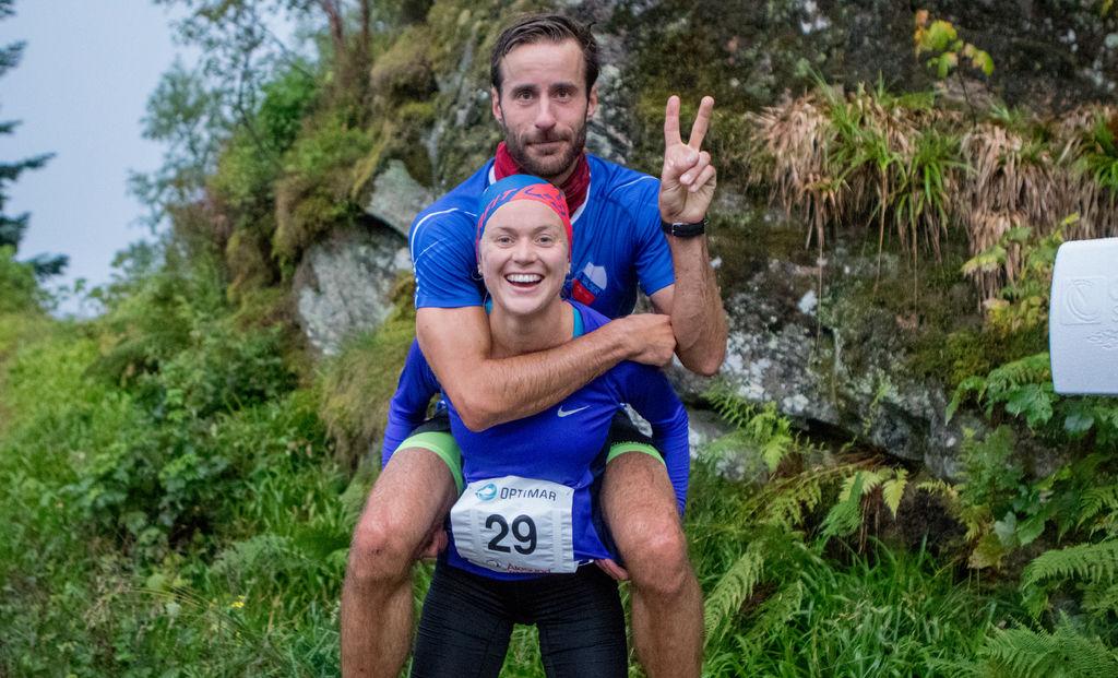 Seier til Ingrid Festø og Marcus Megrund på Blodslitet i Ålesund, i år som i fjor. Foto: Martin Hauge-Nilsen