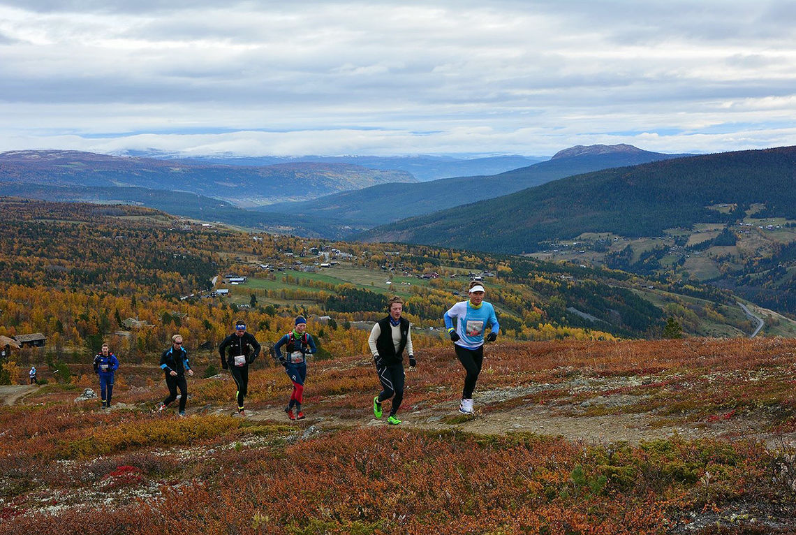 201 påmeldte totalt i årets utgave av Skåbu Fjellmaraton var en økning på ca 25% fra i fjor. (Foto: Anne Mari Lo)