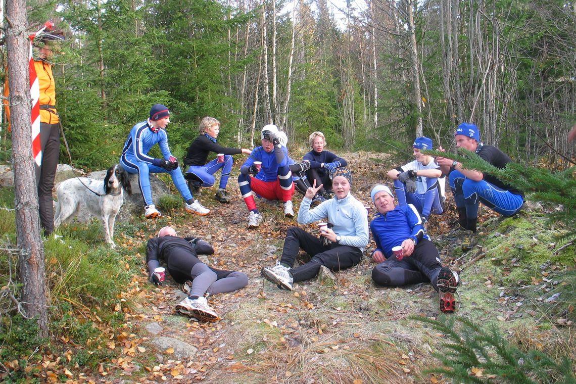 Historisk bilde fra den aller første utgaven av Stavåsbratta Opp arrangert av Rune Gilde og Hernes IL 29.10.2006.