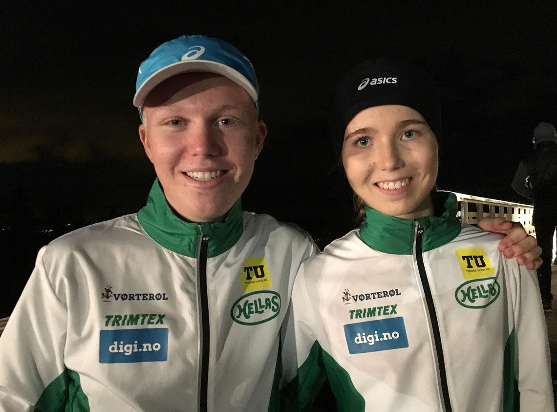 Martin og Emma Kirkeberg Mørk tok hver sin klare seier i Landfallhytta Opp. (Foto: Per Øyvind Mørk)