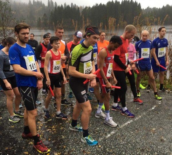 Fra starten i fjorårets Brakvatnet Halvmaraton