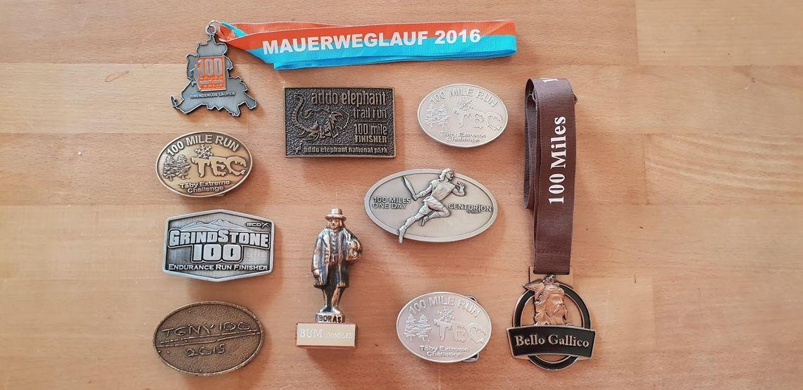 Minner fra de ti 100-milesløpene