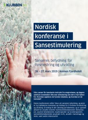 Nordisk konferanse i sansestimulering 2019