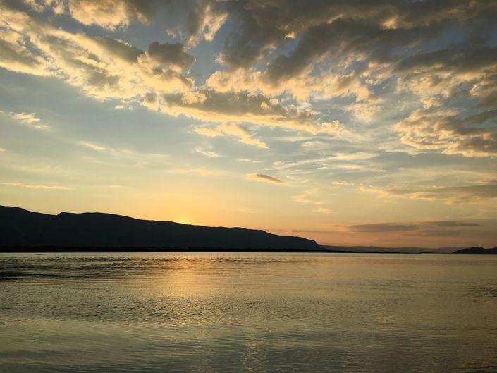 Solnedgang i Porsangerfjorden