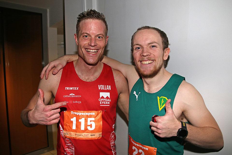 Torje Klevmo og Christian Steen Orbekk var akkurat like gode i trappene på Scandic Ørnen Hotell