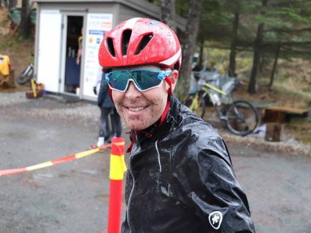 Trond Skaale syklet på vinnerlaget Team Skaale. Tidligere var Trond en habil løper og har ned mot 35 minutter på mila. Skader gjorde at han måtte velge bort løpinga og satse på sykkel. Foto: Dalane Tidende.