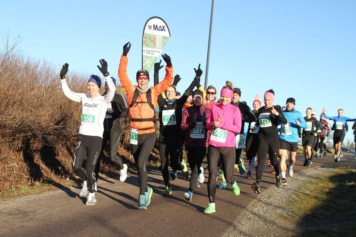 Det blir ingen vinterløpsfest på Jessheim i år, slik som på dette bildet fra 2018. (Foto: Olav Engen)