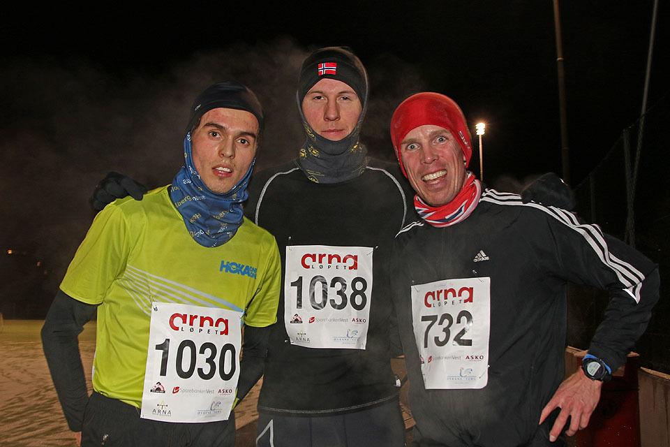 De tre beste menn i Frikarusellens 2. løp: Sondre Dingsør, Sindre Solbakken Omvik og Øyvind Loftås.