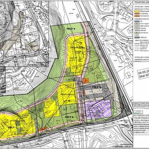 Bilde av forslag til reguleringsplan for Hekteråsen nord