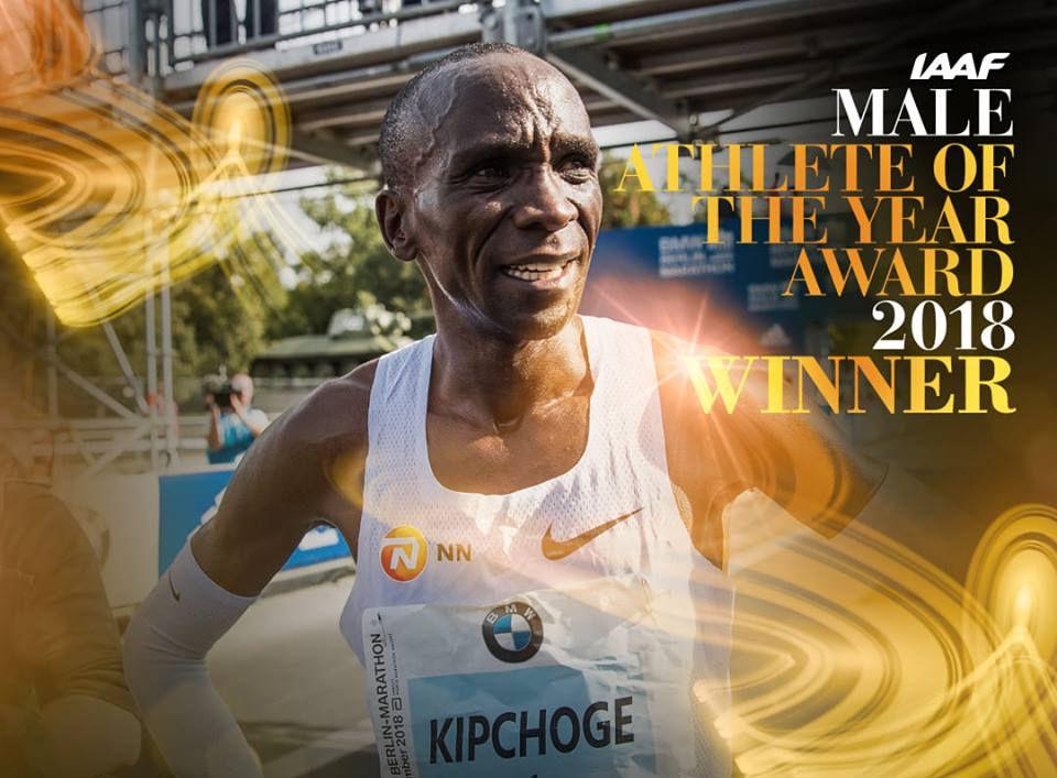 Etter en strålende sesong ble Eliud Kipchoge kåra til årets utøver. (Foto: IAAF)
