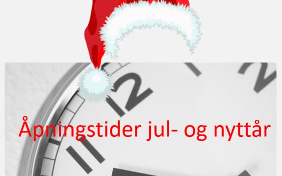 Åpningstider jul- og nyttår