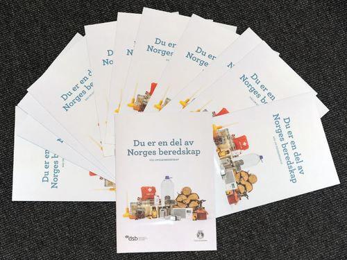 Bilder av brosjyre egenberedskap fra dsb