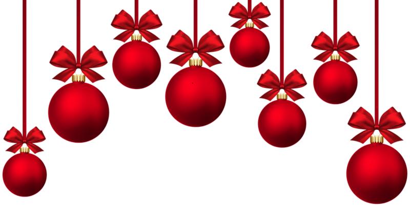 bilde av røde julekuler