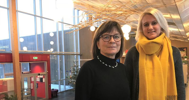 Bilde av rektor på Brekkåsen og ruskoordinator