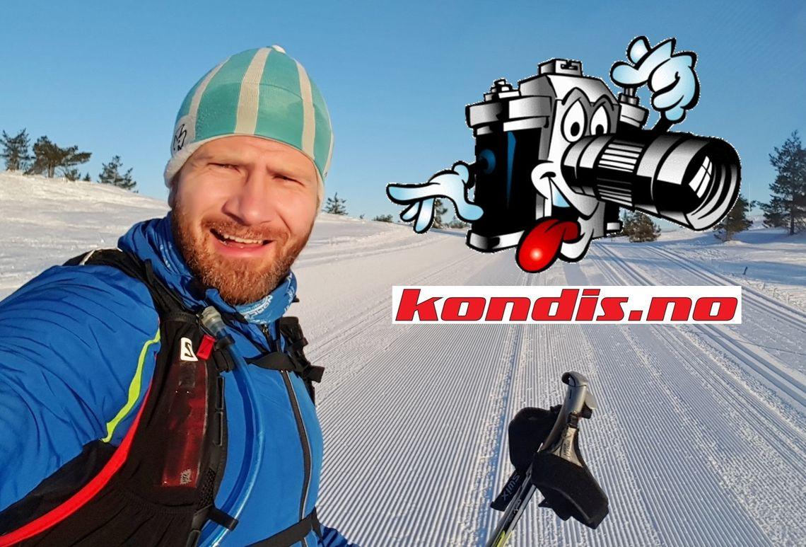 Geir Einar Flathen fra Revetal i Vestfold er ny kondisreporter. Bildet er fra en treningstur på blefjell. (selfie)