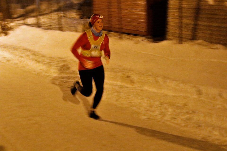 Anne Storslett i innpurten av Nordhagarunden som ble gjort unna på 45:55.