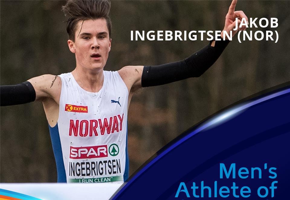 Jakob Ingebrigtsen gikk helt til topps i kåringen av månedens beste friidrettsutøver i desember. (Foto: Det europeiske friidrettsforbundet)