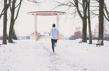 Andreas Grøgaard trener godt også på vinterføre. (Foto: Endre Jansen)