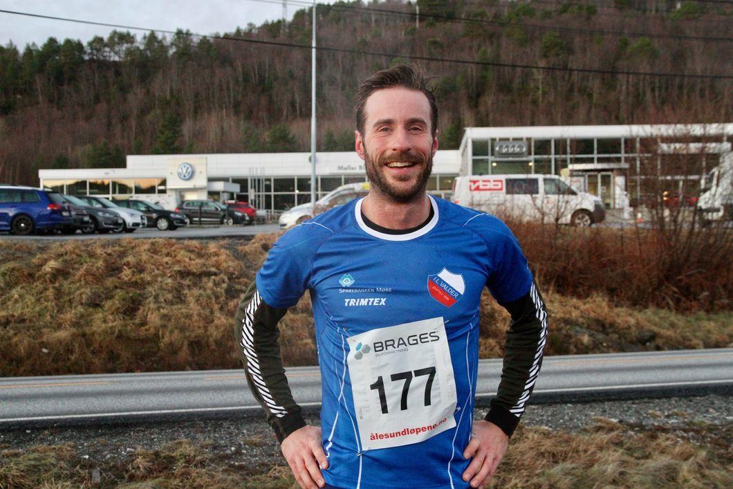 Marcus Megrund var bare 1 minutt og 19 sekund bak løyperekorden på 10 km