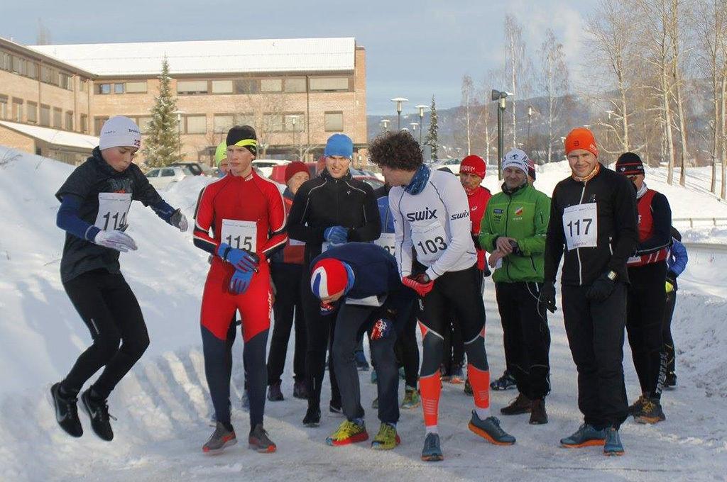 1. løp i Telemark Vinterkarusell ble arrangert med 23 løpere på startstreken. (Alle foto: arrangøren)