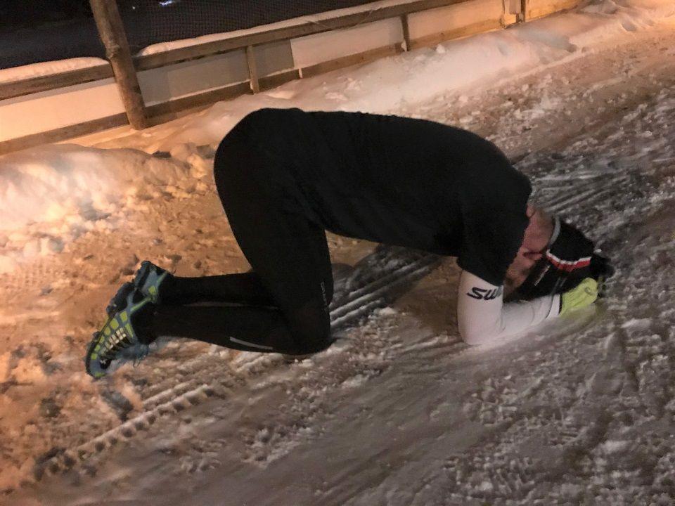 Bjørn Egil Nordseth fikk tatt i på Hamar denne måneden også og vant med 1 minutt og 20 sekunders margin til Knut Lium da han løp den drøye 4 kilometeren på 14.38. (Foto: Arrangør)