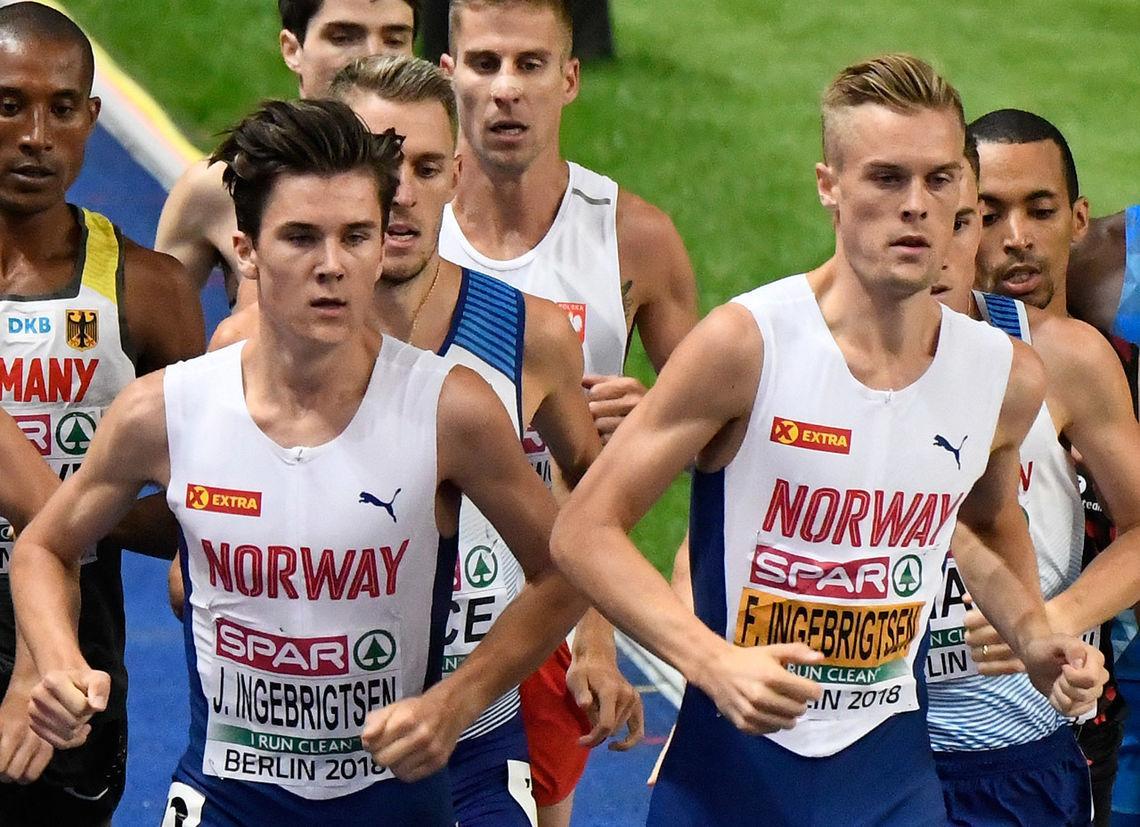 Jakob Ingebrigtsen er tatt ut på 800 og 1500 m, mens Filip skal løpe 3000 m i den nordiske landskampen. (Foto: Bjørn Johannessen)