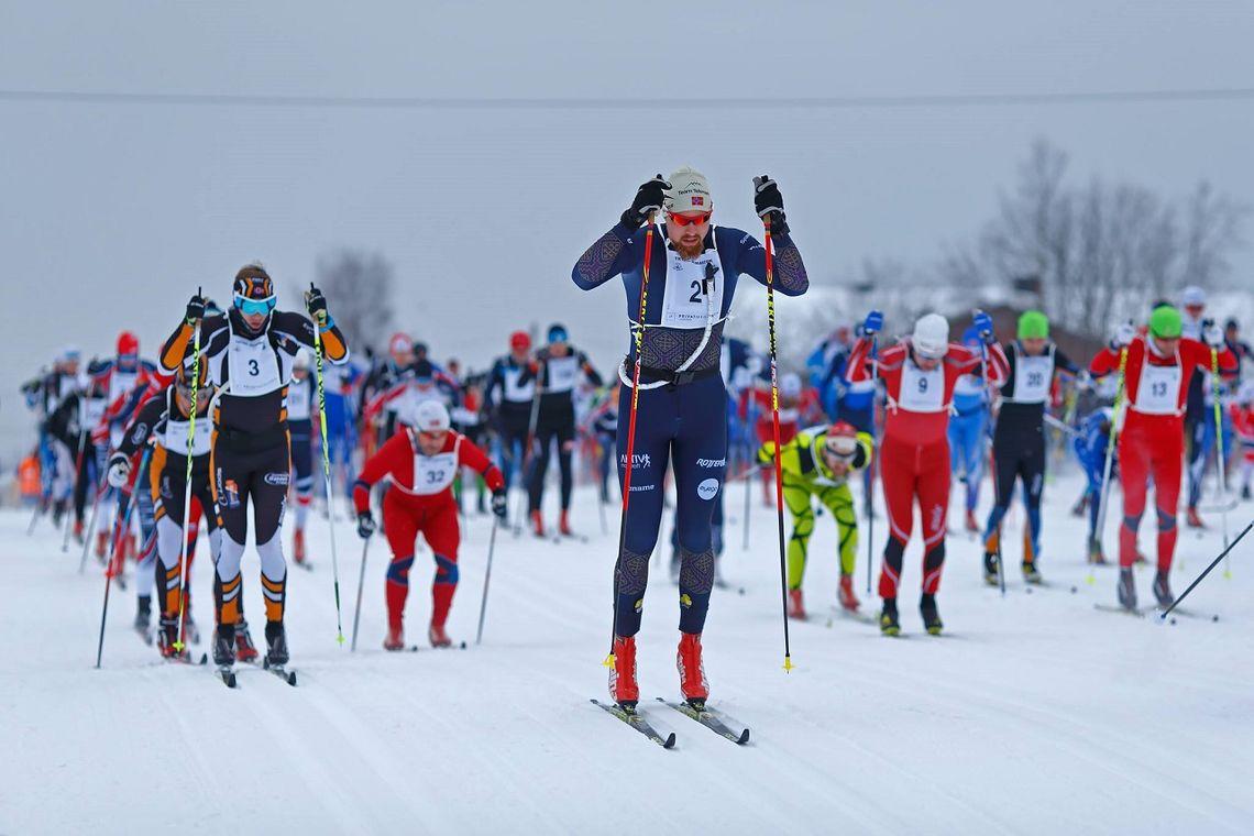 Runar Skaug Mathisen stiller til start for å forsvare seieren i lørdagens utgave av Trysil Skimaraton. (Foto: Sven Alexandersson)