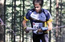 Vegard Ølstad Dalberg i aksjon under NM orientering på Vegårdshei i fjor. (Foto: Ole Ingvald Smeland)