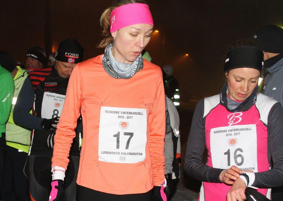 Silje Christiansen og Tone Fløttum var de to raskeste kvinnene i år som i 2017 da dette bildet ble tatt. (Foto: Olav Engen)