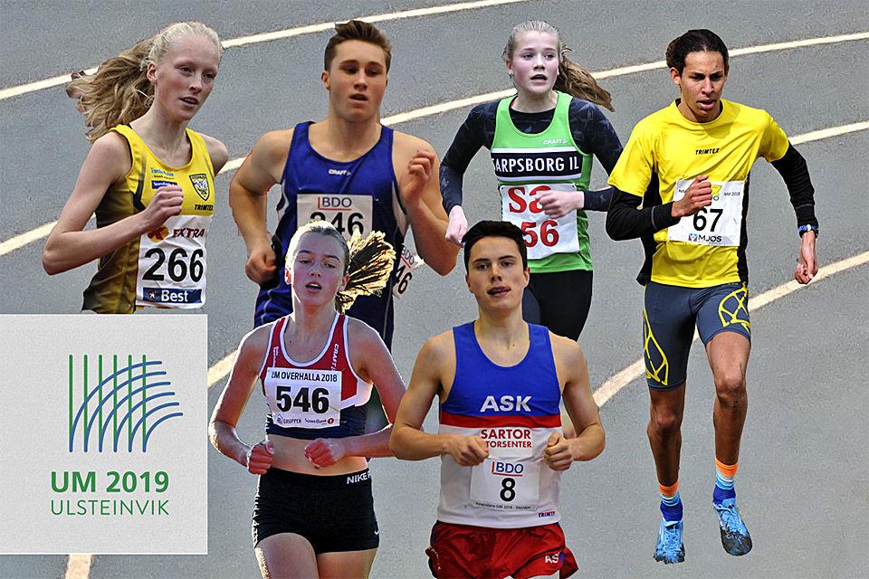 Grethe Tyldum, Anders Gundersen, Maiken Homlung Prøitz, Moa Abounnachat Bollerød, Sigrid Alvik og Ole Lyngbø er utøvere som kommer til UM Innendørs med et favorittstempel.