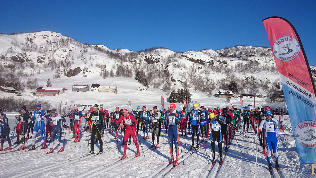 Sirdal Skimaraton, startsletten. Foto: Arrangør