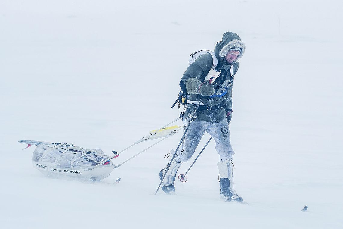 Det ble krevende forhold i den 10. utgaven av Åsnes Expedition Amundsen. (Foto: Kai-Otto Melau/Xtremeidfjord)
