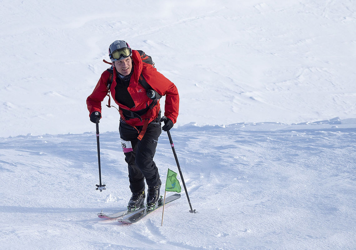 Hallvard Schjølberg tok en klar seier i løypa med over 4000 m høydemeter stigning/fall. (Foto: Kristin Folsland Olsen)