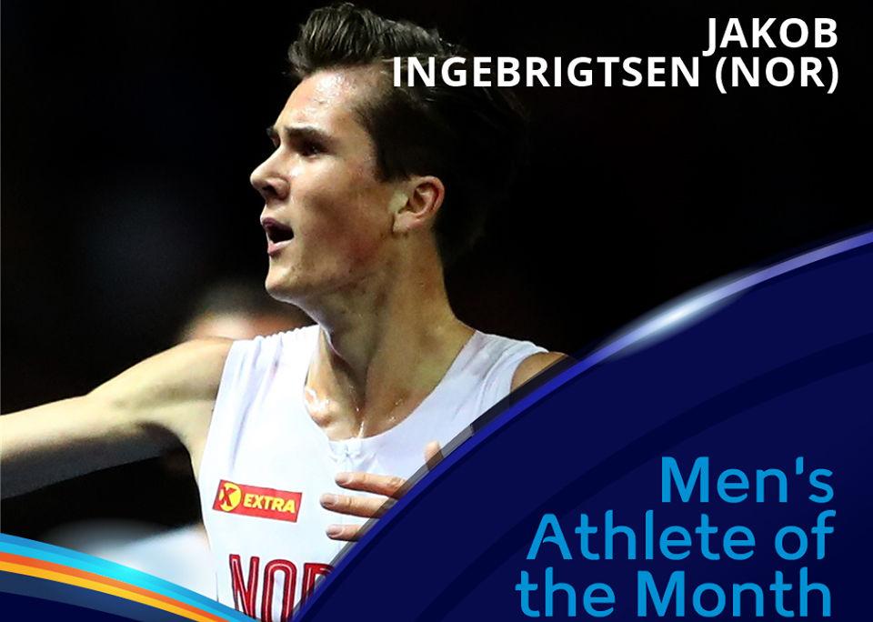 Nok en gang kan Jakob Ingebrigtsen stemmes fram som månedens europeiske friidrettsutøver. (Foto: Det europeiske friidrettsforbundet)