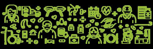 Mønster lysegrønt velferdsteknologi