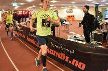 Frank Løke på Bislett 24-timers 2017 der han løp 207,380 km og ble nummer 4 i NM. (Foto: Anders Tøsse)