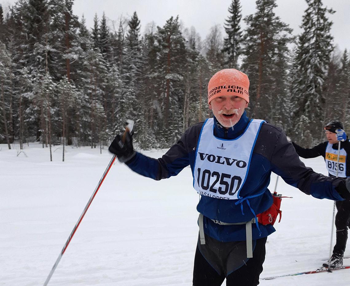 Johan Filseth debuterte i Vasaloppet i godt voksen alder og deler opplevelsen sin med Kondis-leserne. (Foto: Hanne Mørk)